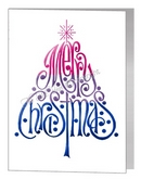 bisexual merry christmas wording tree card