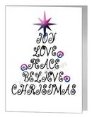 bisexual  joy love christmas wording tree card
