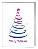 bisexual swirl christmas tree card
