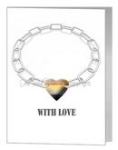 bear chain & heart card