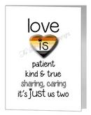 bear love is patient card