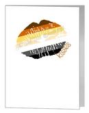 bear lips & kisses card