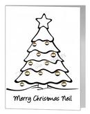 bear christmas bauble tree card