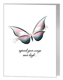 transgender butterfly - spread your wings card