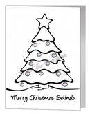 transgender christmas bauble tree card