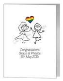 lesbian brides card
