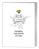 lesbian brides in car card