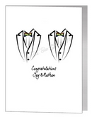 rainbow bowtie tux card