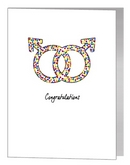 rainbow confetti male symbols card