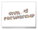 rainbow confetti civil partnership card