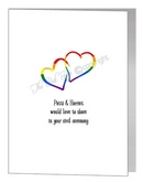 civil partnership acceptance entwined hearts card