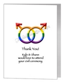civil partnership acceptance male symbols card