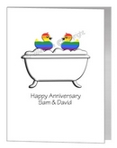 gay anniversary card - rubber ducks