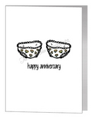 anniversary card - rainbow knickers