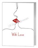 silhouette kiss card