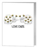 cute rainbow lovebugs card