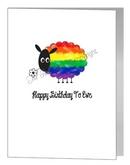 happy birthday to ewe sheep card