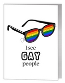 I see gay people card