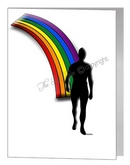coming out male rainbow card