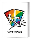 coming out closet card