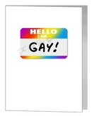 hello I'm gay badge card
