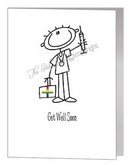 male nurse get well soon card