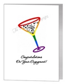 engagement card - martini glass