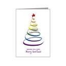 rainbow swirl christmas tree card