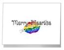 rainbow merry kissmas card