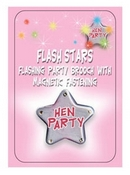 flashing magnetic hen party badge
