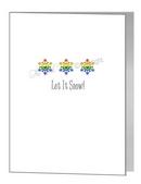 rainbow pride snowflakes card