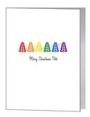 rainbow pride christmas trees card