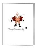 flashing bear santa christmas card