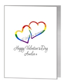 valentine card - joined rainbow hearts