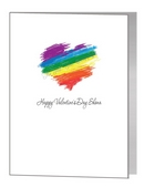 valentine card - crayon rainbow heart