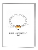 valentine card - chain with bear pride heart