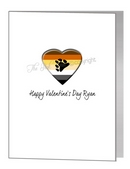valentine card - bear pride heart & paw