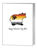 valentine card - bear in pride flag colours