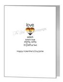 valentine card - love quote & bear pride heart