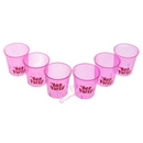pink hen party shot glasses (6 pack)