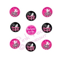 hen night angel / devil badges (pack of 9)