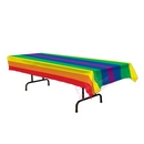 plastic rainbow pride tablecover