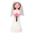 bride cake topper - brunette
