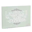 personalised typographic art canvas