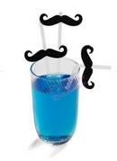 moustache straws (pack of 4)