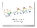santa & flying reindeers - pride xmas