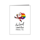 santa with rainbow sack - pride xmas