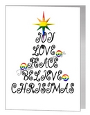 rainbow joy love christmas wording tree - pride xmas