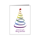 rainbow swirl christmas tree - pride xmas