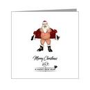 flashing bear santa - xmas card